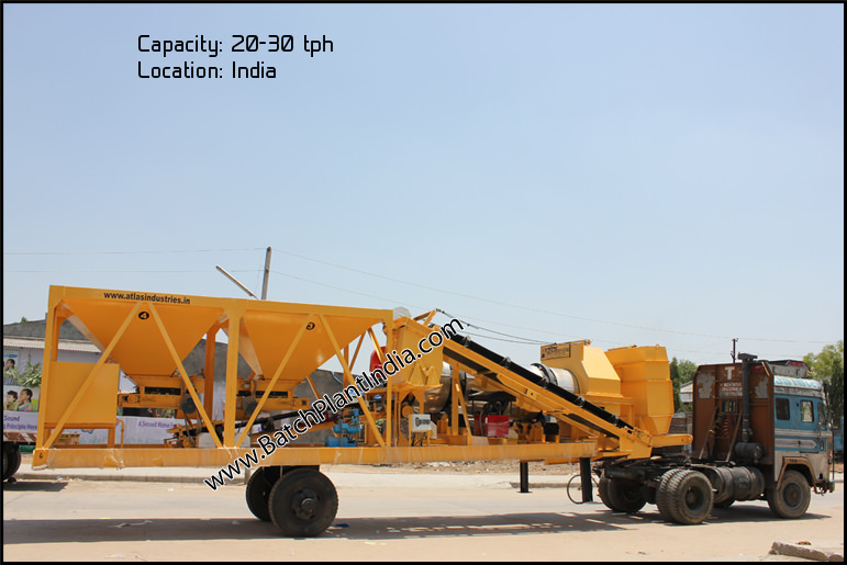 mobile asphalt drum mixers