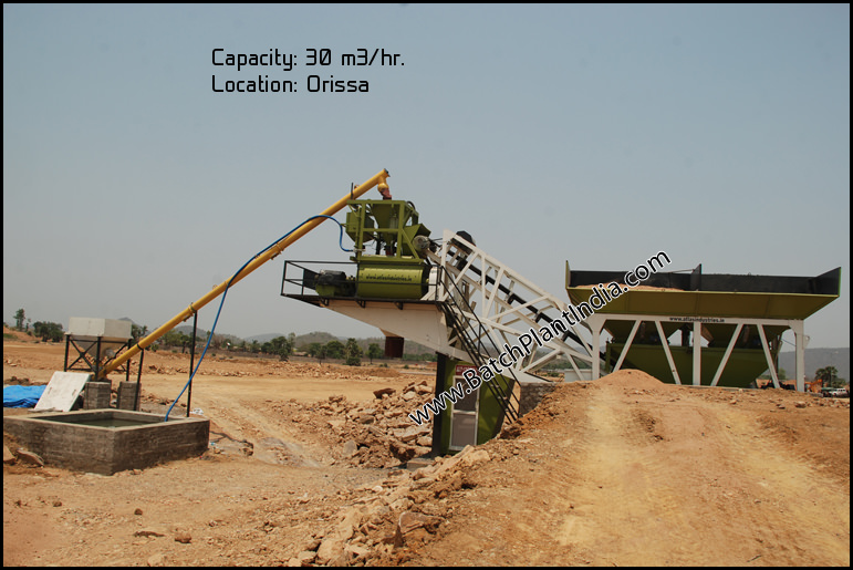 mobile concrete plant India