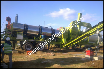 portable asphalt drum mix plant
