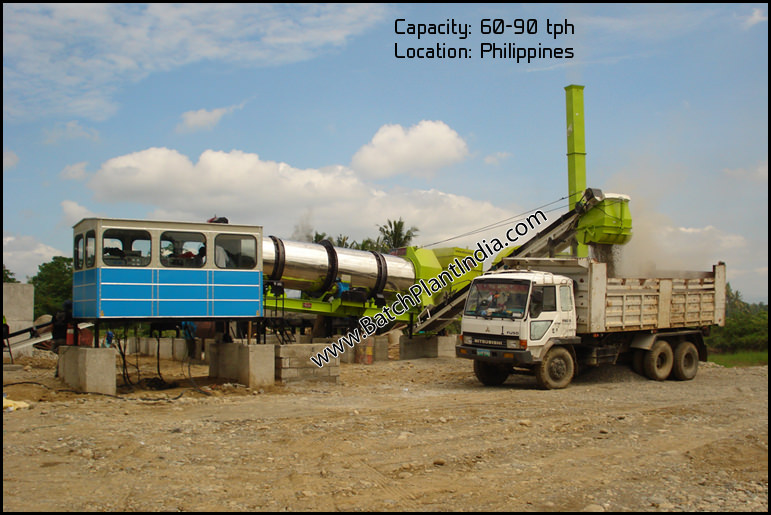 stationary asphalt drum mix plant India