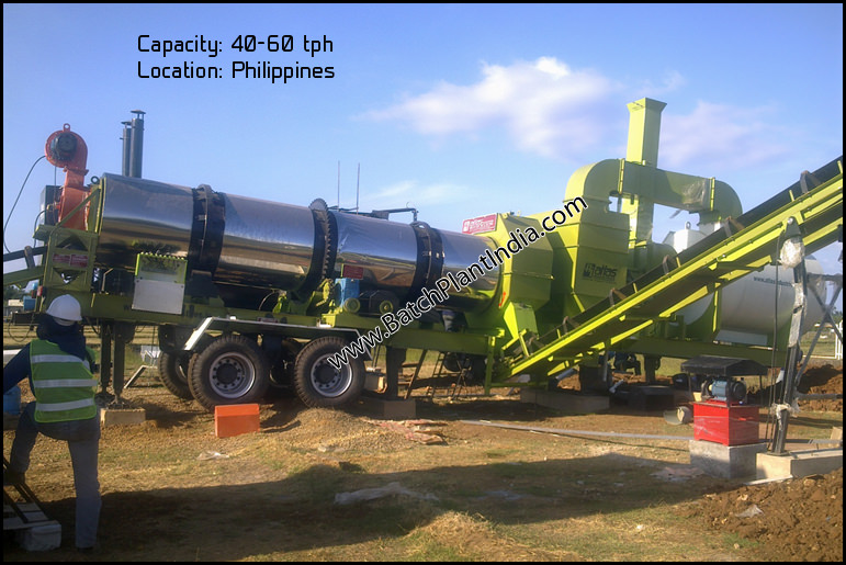 portable asphalt plant India