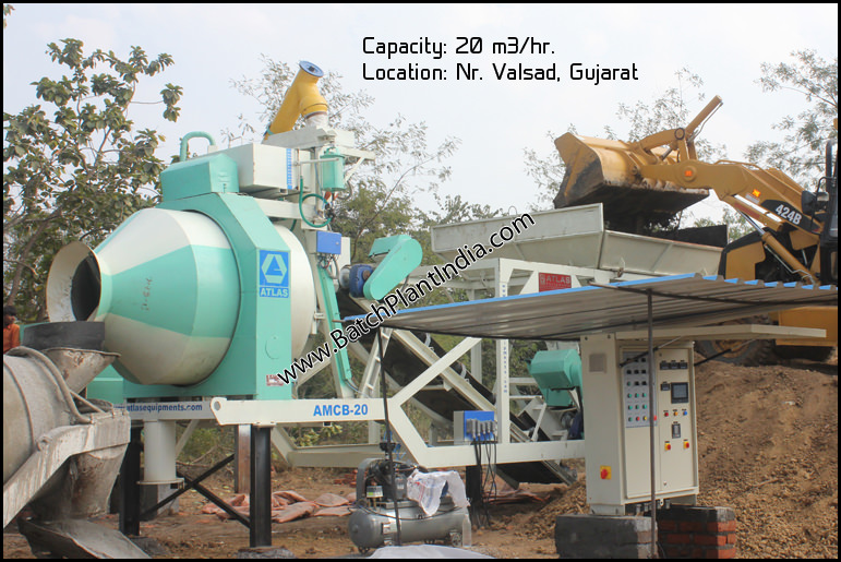 portable concrete plant India